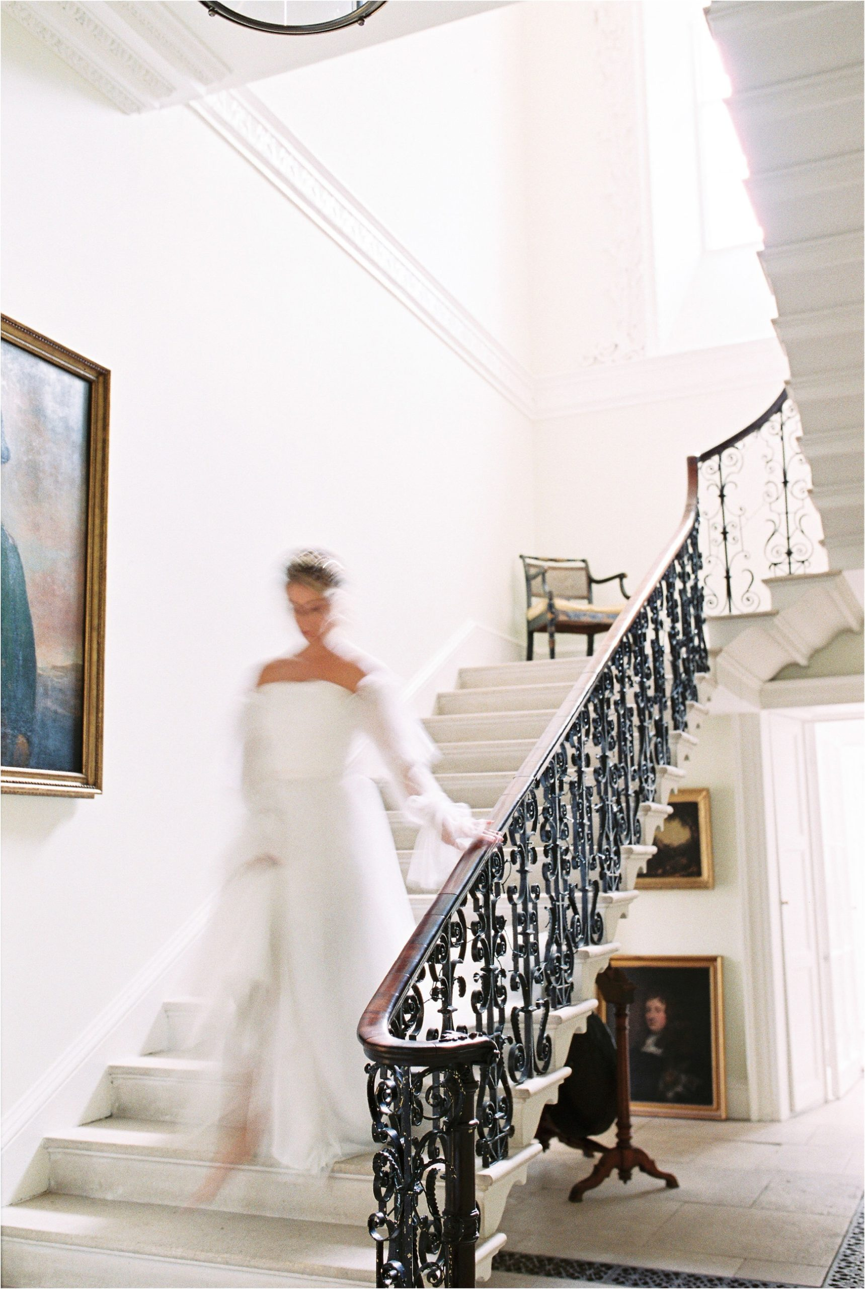 the staircase at Came House wedding