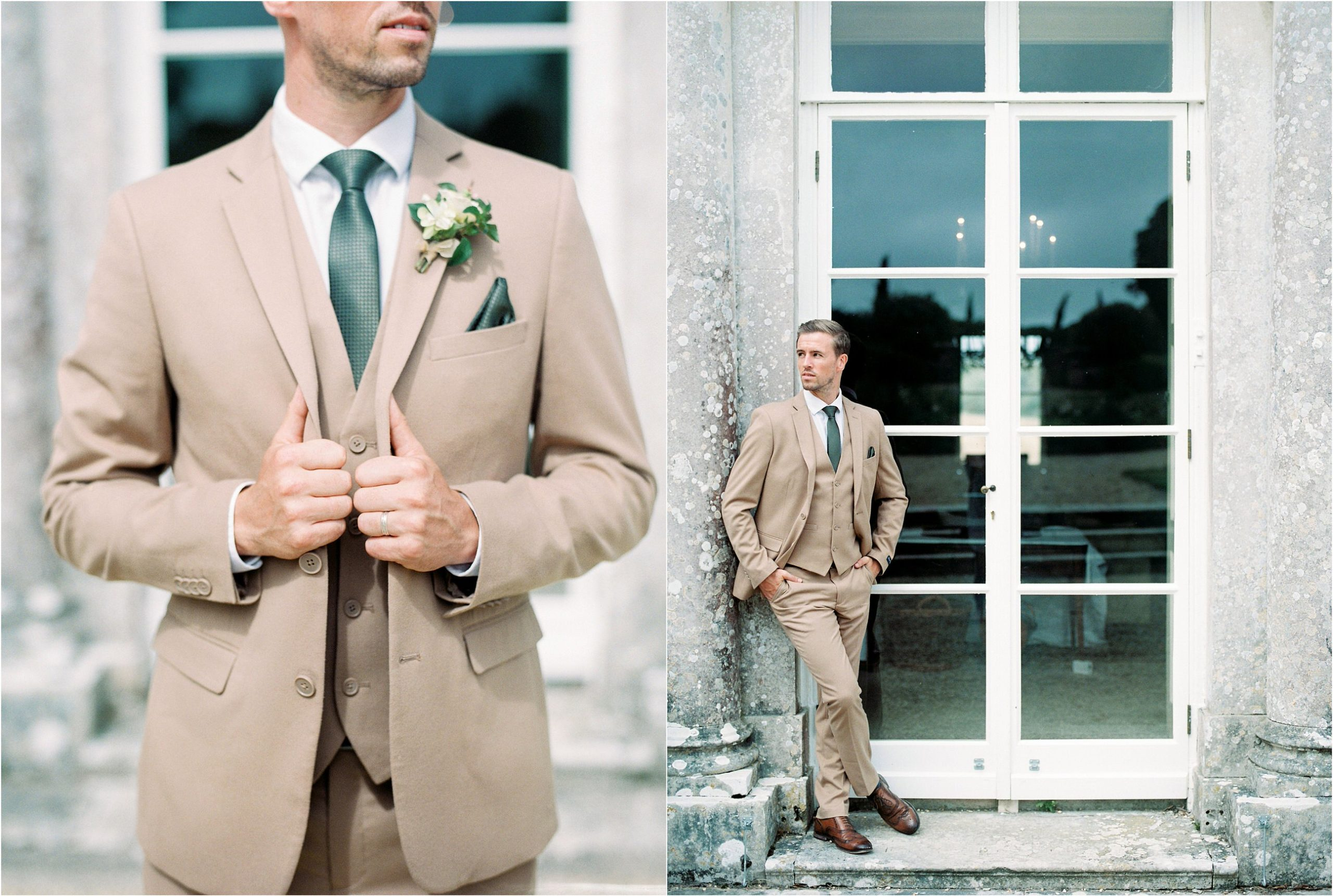 groom at Came House wedding