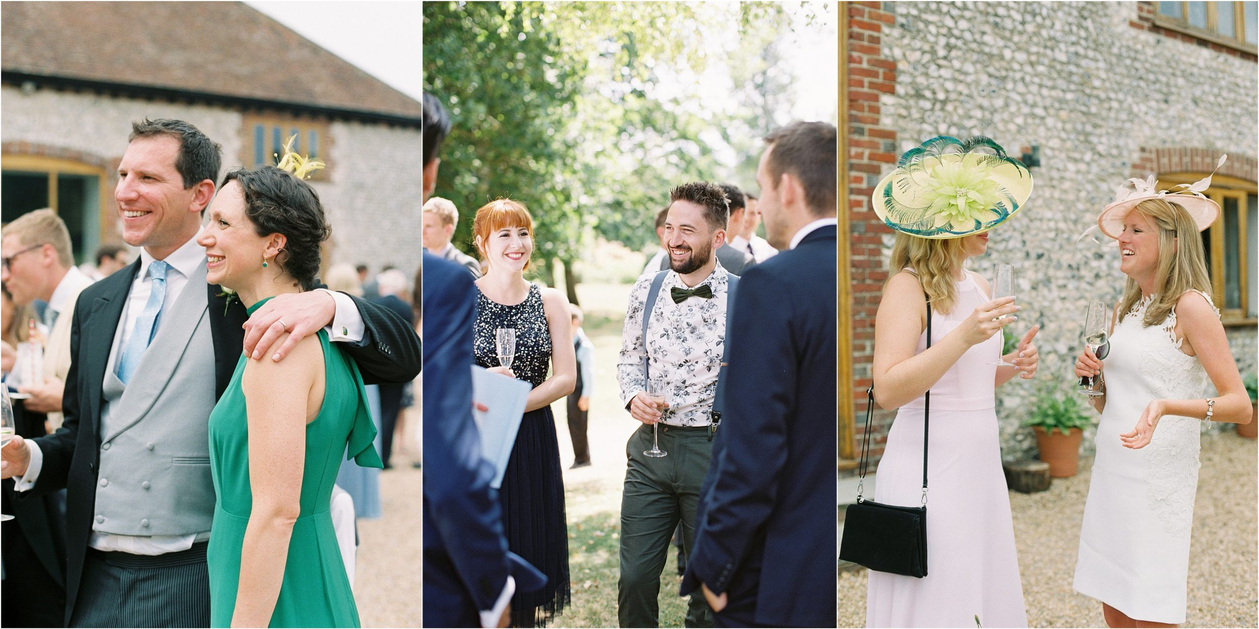 relaxed wedding photographer captures guests hugging