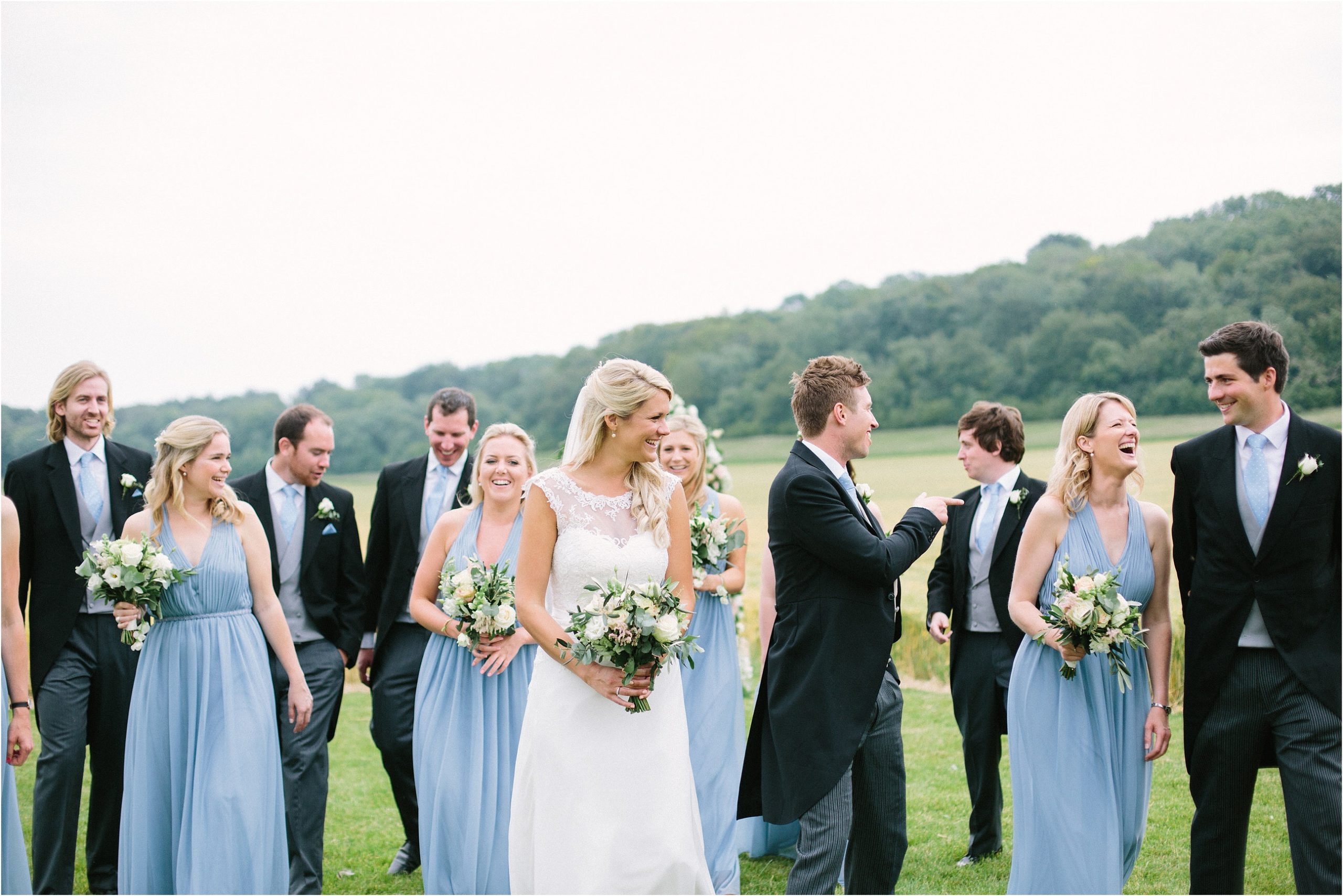 relaxed wedding photography bridal party